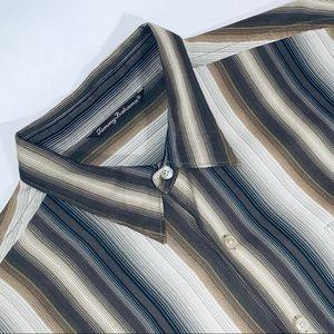 Tommy Bahama XL 75% Silk Long Sleeve Dress Shirt.